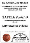 Journal du match SAPELA - Saint Martin d'Hères 13sept 2008