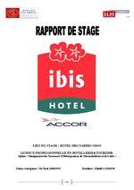 rapport de stage Ibis hôtel