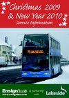 Ensignbus Christmas and New Year Timetables