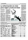 La informacin es vital para lograr productividad