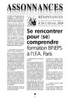 N34 Se rencontrer pour (se) comprendre, formation BPJEPS  lI.F.A. Paris