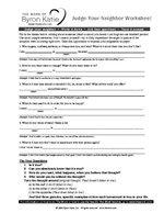 Byron katie free worksheets