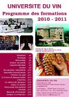 Programme des formations 2010-2011