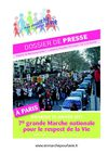 Marche pour la vie 2011 : dossier de presse