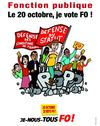 Fonction publique. Le 20 octobre, je vote FO!