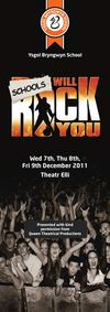 Schools Will Rock You Programme - December 2011
