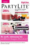 *****PARTYLITE promotions avril 2012****