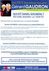 Tract Grard Gaudron - Critiques sur Daniel Goldberg (Lgislatives 2012)