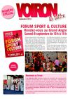 Lettre de Voiron speciale Forum sport et culture (1,7 Mo)