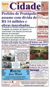 Jornal Cidade de Pratpolis - Edio n 26 de 11/01/2013