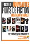 Nouveauts Films de fiction Avril 2013