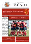 Newsletter du BEC Rugby N42 - Lundi 8 Avril 2013