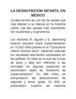 Desnutricion infantil en mexico